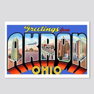 Akron Ohio Greetings Postcards (Package of 8)
