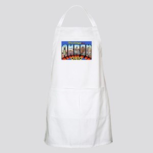 Akron Ohio Greetings BBQ Apron