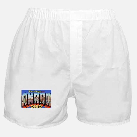 Akron Ohio Greetings Boxer Shorts