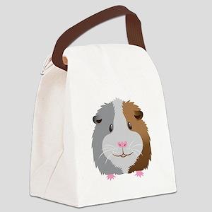 Guinea pig face Canvas Lunch Bag
