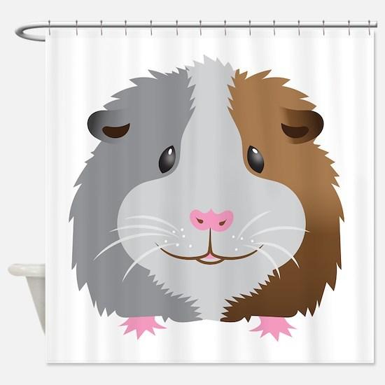 Guinea pig face Shower Curtain