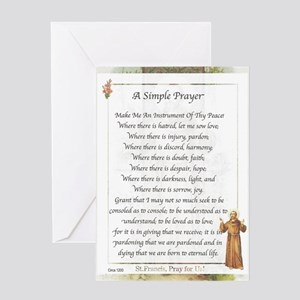 Saint Pope Francis Simple Prayer Greeting Card