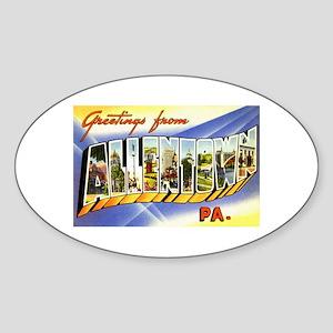 Allentown Pennsylvania Greetings Oval Sticker