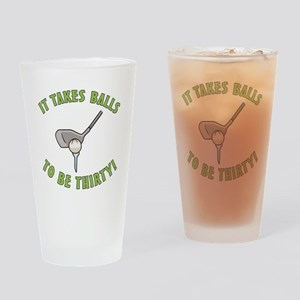 30th Birthday Golfing Gag Drinking Glass
