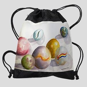 Marbles 16 by 20 copy Drawstring Bag