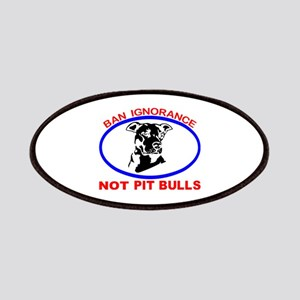 BAN IGNORANCE NOT PIT BULLS Patches