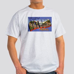Altoona Pennsylvania Greetings (Front) Ash Grey T-