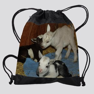 baby goat3 Drawstring Bag