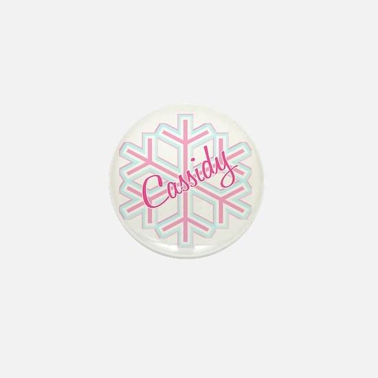 Cassidy Snowflake Personalized Mini Button
