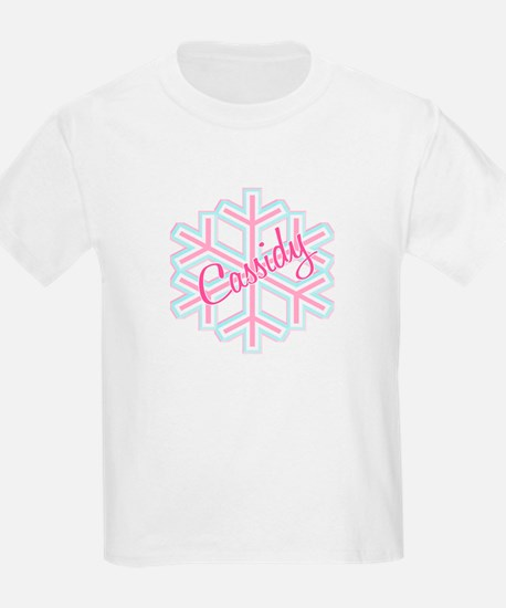 Cassidy Snowflake Personalized Kids T-Shirt