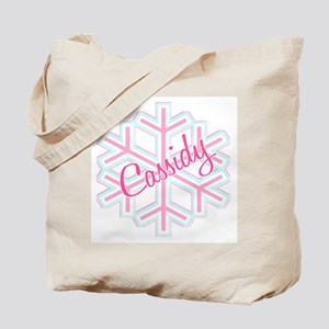 Cassidy Snowflake Personalized Tote Bag
