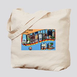 Asheville North Carolina Greetings Tote Bag