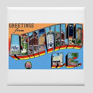 Asheville North Carolina Greetings Tile Coaster
