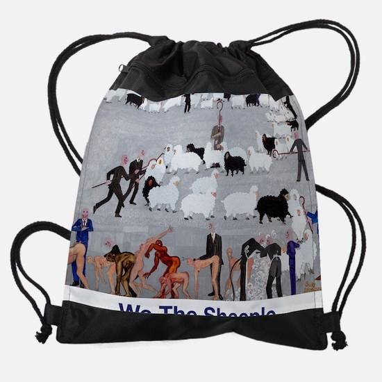 We the Sheeple.jpg Drawstring Bag