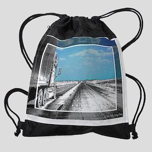 calendarpersonalized_truckhighwayPN Drawstring Bag