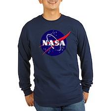 NASA Meatball Logo Long Sleeve Dark T-Shirt