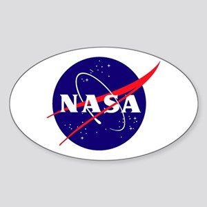 Nasa Meatball Logo Sticker (oval)