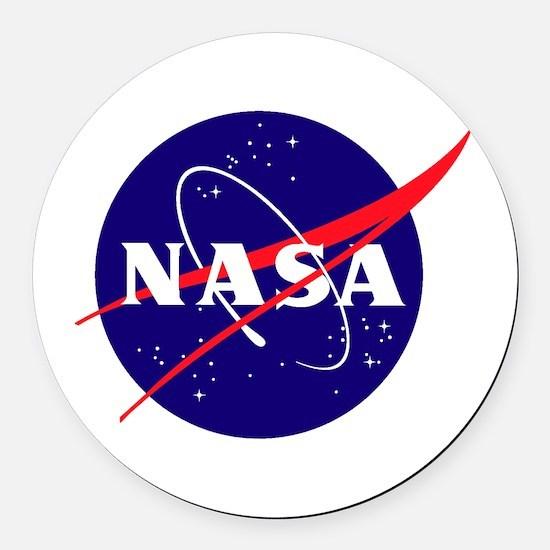 NASA Meatball Logo Round Car Magnet