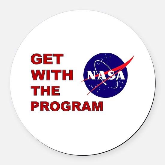 Program Logo Round Car Magnet