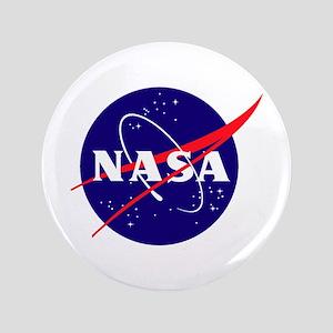"""NASA Meatball Logo 3.5"""" Button"""