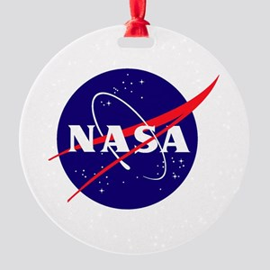 NASA Meatball Logo Round Ornament