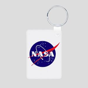 NASA Meatball Logo Aluminum Photo Keychain