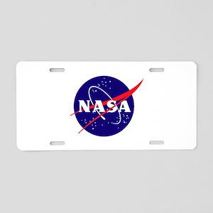 NASA Meatball Logo Aluminum License Plate