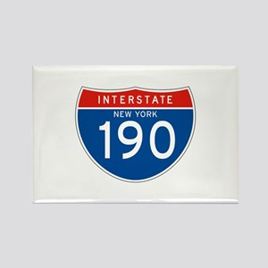 Interstate 190 - NY Rectangle Magnet