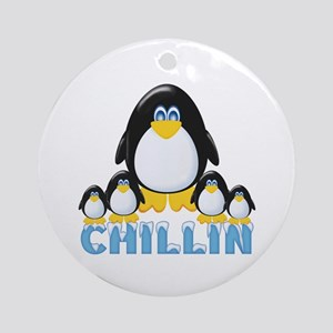 Chillin Penguins Ornament (Round)