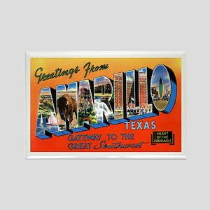 Amarillo Texas Greetings Rectangle Magnet