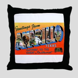 Amarillo Texas Greetings Throw Pillow