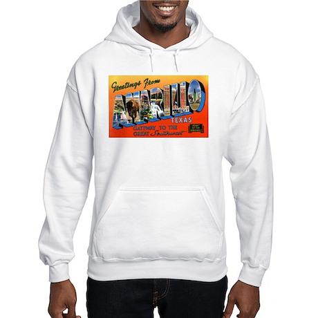 Amarillo Texas Greetings (Front) Hooded Sweatshirt