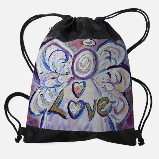 Love Angel Art Drawstring Bag