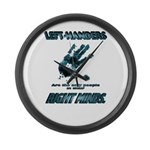 Lefties in their Right Minds Large Wall Clock
