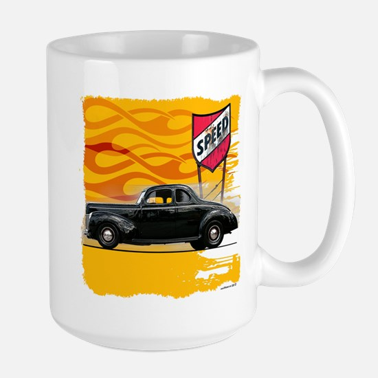 Speed '40 Ford Large Mug