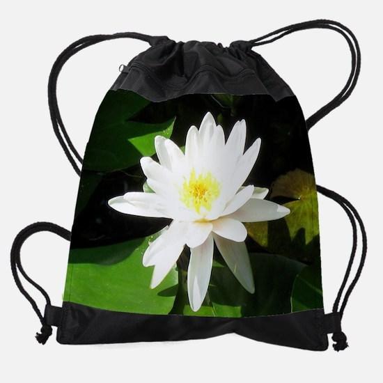 single_lily.jpg Drawstring Bag