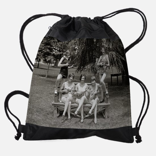 Flappers in Bathing Suits, 1926 Drawstring Bag