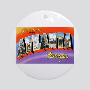 Atlanta Georgia Greetings Ornament (Round)