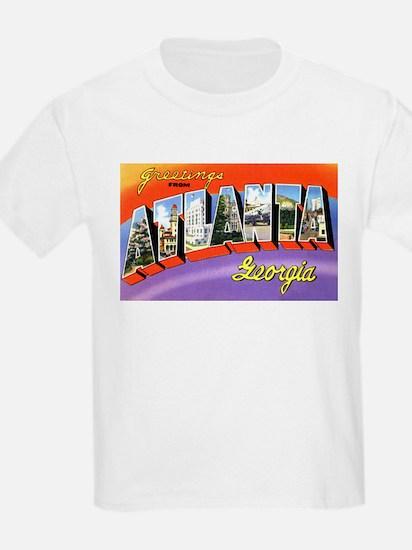 Atlanta Georgia Greetings (Front) Kids T-Shirt