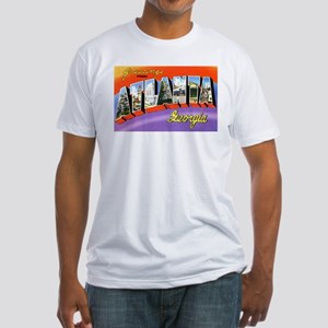 Atlanta Georgia Greetings (Front) Fitted T-Shirt