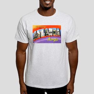 Atlanta Georgia Greetings (Front) Ash Grey T-Shirt