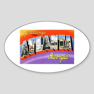 Atlanta Georgia Greetings Oval Sticker