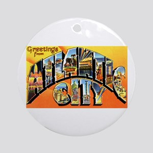 Atlantic City New Jersey Greetings Ornament (Round