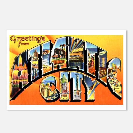 Atlantic City New Jersey Greetings Postcards (Pack