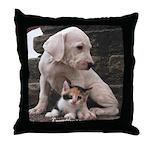 Dogo n kitty Throw Pillow