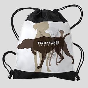 Weimaraner the ghost dog Drawstring Bag