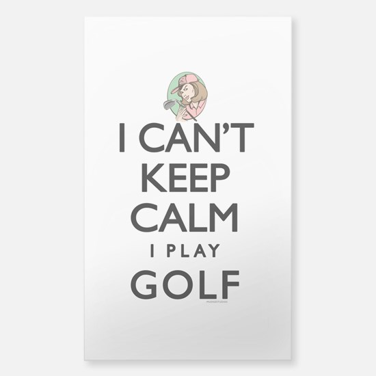 Can't Keep Calm Lady Golf Sticker (Rectangle)