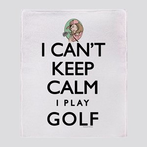 Can't Keep Calm Lady Golf Throw Blanket