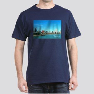 Chicago from the Museums Dark T-Shirt