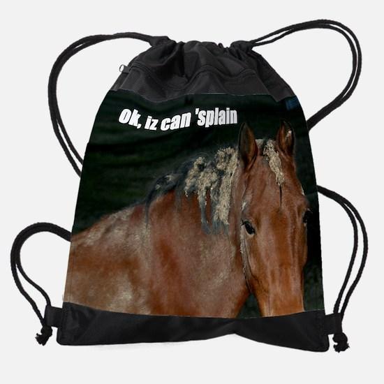 lol burrs.png Drawstring Bag
